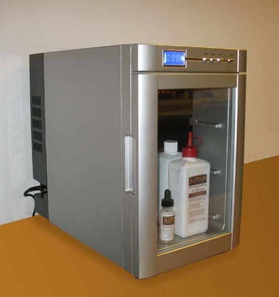 Kühlschrank für Tanninglotionen
