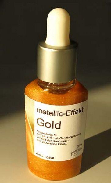 Tanning Zusatz metallic Gold 30ml