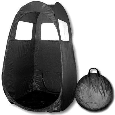 Spray Tanning Zelt schwarz